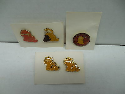 Garfield The Cat Jim Davis Comic Strip Feline Cloisinne Pins X5