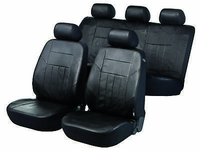Black, Seat Covers For Peugeot 406 Coupe 1997 to 2004