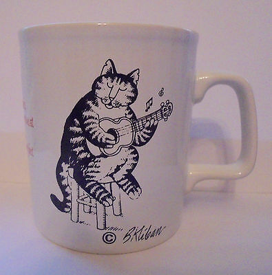 1980's B. Kliban Cat Coffee Mug Love to Eat Them Mousies Made in England Cup
