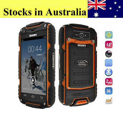 Discovery V8 Smartphone Dual Core Rugged Android Land Mobile Phone Rover Orange
