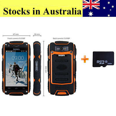 Discovery V8 Smartphone Dual Core 4'' 5.0MP Rugged Android 4.2 Mobile Phone 32GB