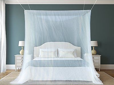 #1 The Best Mosquito Net By NATURO HOME for Double Bed Canopy | Largest Screen N