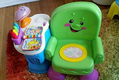 Fisher price laugh & learn chair & lamaze musical inchworm