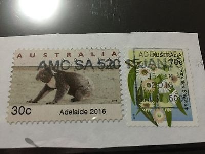 Used Australia 2016 ADELAIDE 30c EMERGENCY Dated 15 Jan 16 CPS Stamp