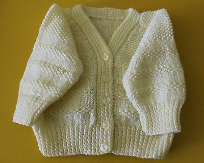 Baby Girl Boy Handknitted Lemon Cardigan Jacket Excellent Condition 00-0