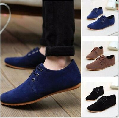 Fashion Mens Leather Slip On Driving Moccasin Loafers Suede Casual Comfort Shoes
