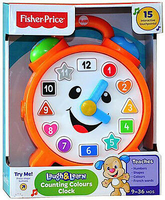 Fisher Price Laugh & Learn Counting Colours Clock 15 Interactive Points Cdk06