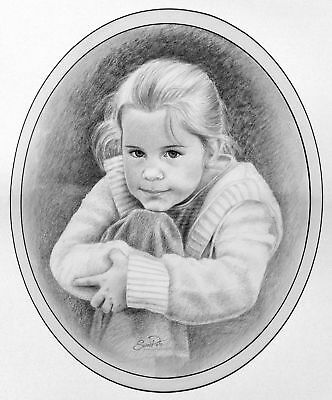 Custom Hand Drawn Portrait Art From Your Photos by Artist Susan Pate Great Gift!