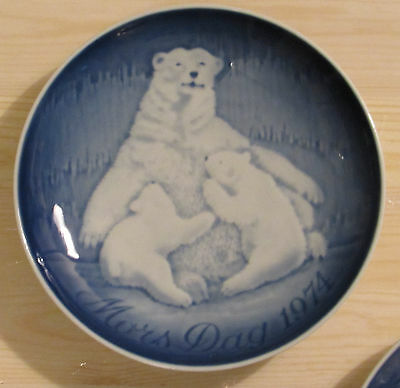 1974 Bing & Grondahl Mother's Day plate Polar Bear with Cubs