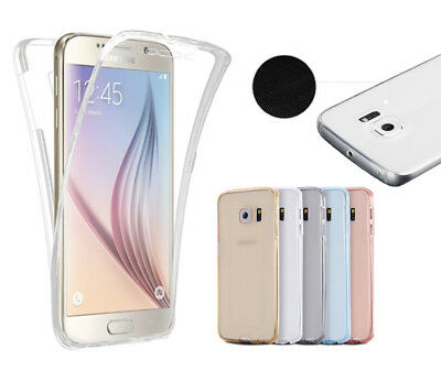 Slim 360 Clear TPU Case Shockproof Cover For Samsung S8+ S7 S6+ S5 edge Note 8 5