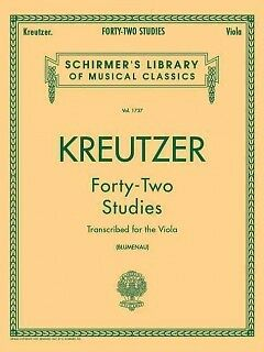Forty-Two Studies for the Viola - NEW - 9780793554539 by Kreutzer, Rudolphe (COP