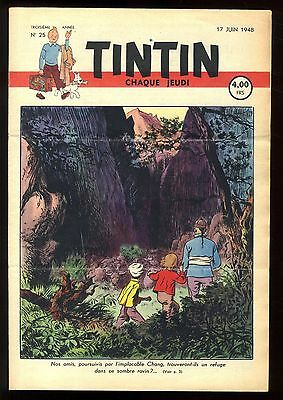 Journal de TINTIN belge  1948   n°25  Couverture de Paul CUVELIER