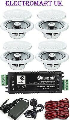 Bluetooth 4.0 Stereo Audio Amp Amplifier 4 X 15W Rms & 4 X 80W Ceiling Speakers