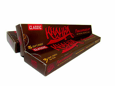 3 Pack Wiz Khalifa Classic Unrefined RAW Peacemaker Cones - 3 Cones Each - NEW