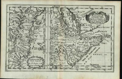 Zanzibar Zanguebar East Africa Red Sea Arabia coast 1699 Sanson antique map