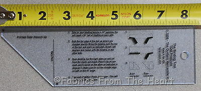 Binding Quilting Tool Template 2 x 8 inch Ruler For Making Binding Sewing Fabric