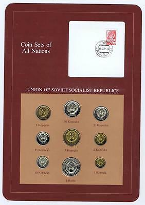 Union of Soviet Socialist Republic 9pc Mint Set BU 1976 Coin Sets of All Nations