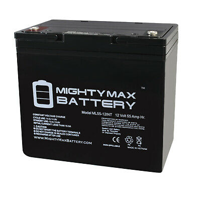 Mighty Max 12V 55AH Internal Thread Replaces Fortress Scientific Spirit-Victory