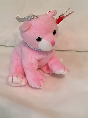 TY Basket Beanie Baby - CARNATION the Cat-  Mint with Mint Tags - RETIRED
