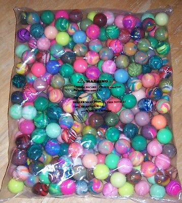 "250 Premium Mixed 27mm 1.1"" Superballs High Bouncing Super Balls Vending New!"