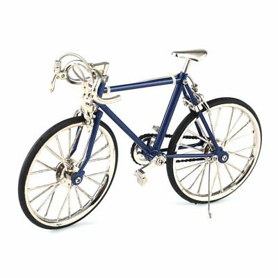 Diecast Model Collections 1:10 Racing Bike Bicycle Blue/Black/Red Replica Toy