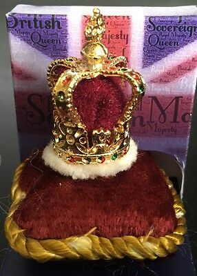 St. Edwards Crown, Doll House Miniatures Queen King Crown 1.12 Scale Miniature