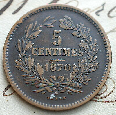 1870  Luxembourg  5  centimes