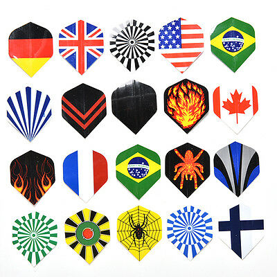 Dart Flights 20 Sets Mixed Type Colored Darts Flight Standard Shape 2017 WH