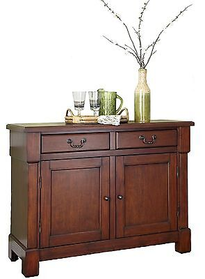 Wood Cabinet Aspen Buffet Storage Drawers Cherry Tables & Sideboards In Rustic