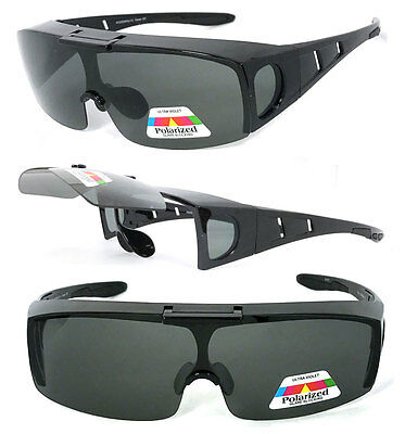 c4117dd33044 Flip Up POLARIZED Cover Put Fit over Sunglasses wear Rx glass Fit Driving  UV400