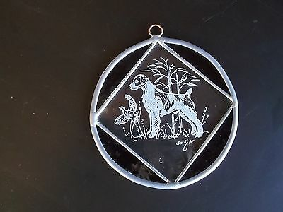 Brittany- Beautifully hand engraved and stained glass medallion by Ingrid