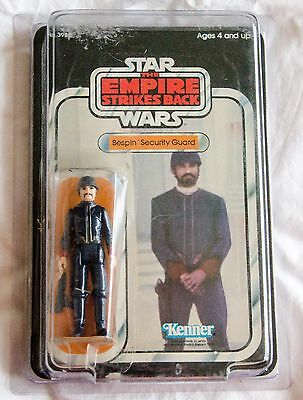 Vintage Kenner ESB Bespin Security Guard - Part Carded Figure 32 Back - NM