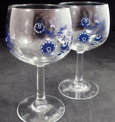Blue Danube JAPAN 2 Ten Ounce Wine Glasses Piece 25/620 No Bands GREAT CONDITION