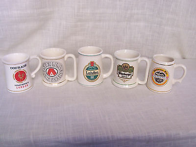 Franklin Porcelain Mini Beer Mugs Tankards Limited Edition Lot of 5