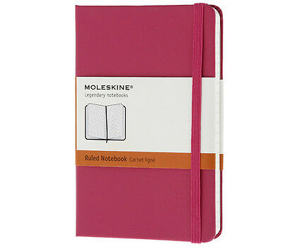 "Magenta Moleskine Classic Notebook Extra Small Ruled Hard Cover (2.5"" X 4"") Gift"
