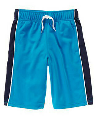 NWT Gymboree Boy GYMGO Activewear Medium Blue Athletic Shorts  Size S 5-6