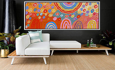 Huge 2500mm by 1000mm aboriginal style painting, aborginal art by Anna Narnina