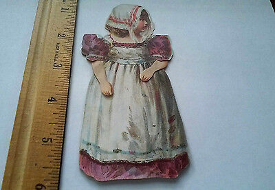 OLD victorian child paperdoll advertising trade card McLaughlin's XXXX Coffee