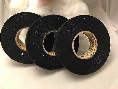 3 Rolls 19mm x 15m Adhesive Cloth Fabric Tape for Cable Looms Wiring Harness