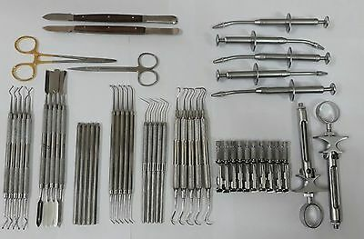 51 pieces Dental Instruments Scalers Tofflimires Syringes Amalgam Carriers Probe