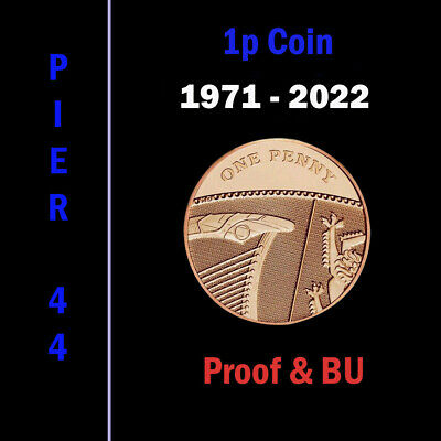 UK PROOF & BU One Penny Coins 1p 1971 - 2019, Coin Hunt - Select Year