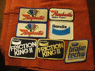Advertising Embroidered Sew On Patches Patch Lot Bendix & Raybestos Brake Emblem