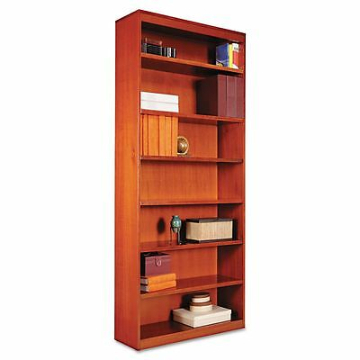 Alera Square Corner 7-Shelf Wood Veneer Bookcase - ALEBCS78436MC