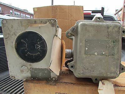 Vintage Wwii Navy Ships Rudder Angle Indicator And Transmittor U.s Nautical