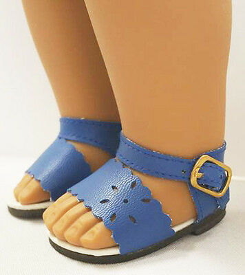 Blue Summer Sandals Shoes for 18 inch American Girl Doll Clothes Sew Beautiful