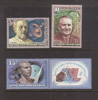 Russia 1986 Cosmonauts Day Mint unhinged set 4 stamps.