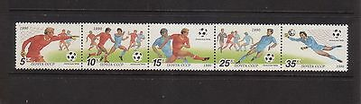 Russia 1990 Soccer Italia'90 Mint unhinged strip 5 stamps