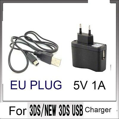 EU POWER AC CHARGER CABLE For Nintendo DSi NDSi DSiXL 3DS 3DSXL/LL NEW3DS /SX
