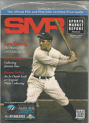 SPORTS MARKET REPORT, PSA PRICE GUIDE, October 2014 - Lou Gehrig