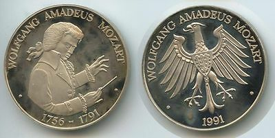 GY055 - Medaille 1991 Wolfgang Amadeus Mozart 1756-1791